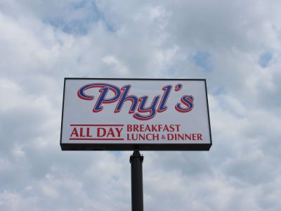 Image of the Phyl's Custom Fabricated Sign Box | LED Lit Sign Box
