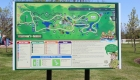 Image of Outdoor Park Map Signage at Safari Niagara in Fort Erie Ontario