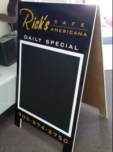 Sidewalk Sign; Sandwich Board Sign; A-Frame Sign |Niagara Signs