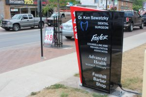 Image of a Custom Fabricated Sign Box   LED Sign Box   Niagara Signs   Signs Niagara