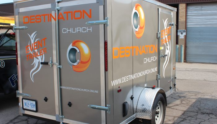Image of a trailor with applied Vehicle Graphics| Decals | and Lettering