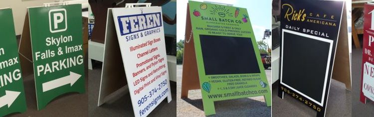Niagara Lawn Signs | Sandwich Boards| A-Frame Signs